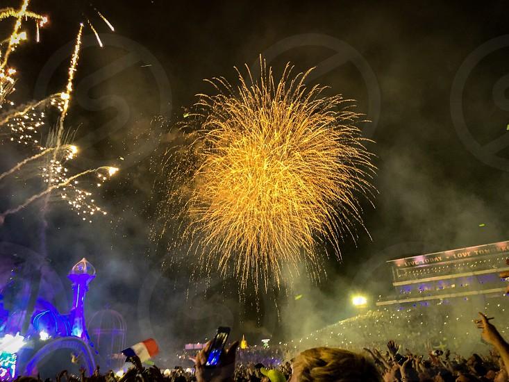 Tomorrowland festival music fireworks crowd concert Belgium Europe boom rumst edm photo