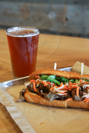 Dory Deli sandwich and beer photo