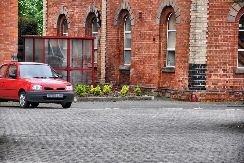 red sedan photo