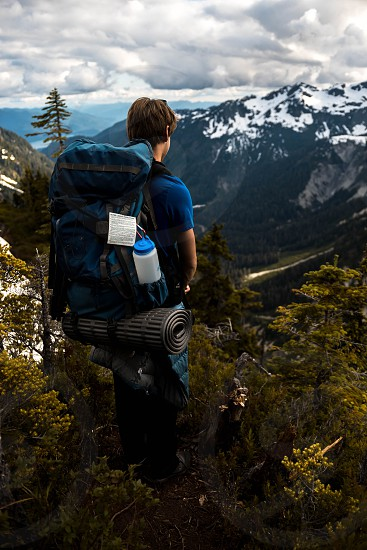 Hiking in the north cascades in washington photo
