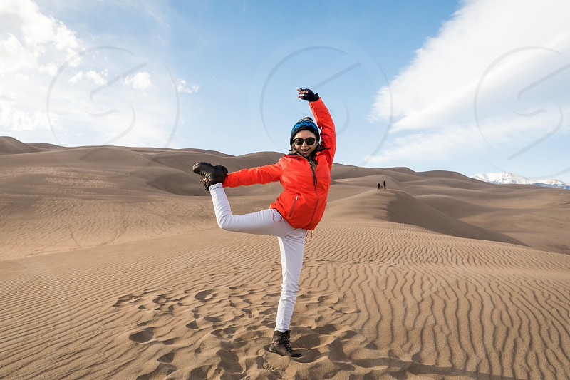 Exercising in the Sand photo