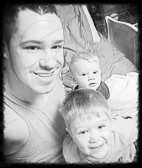 Father and sons time photo