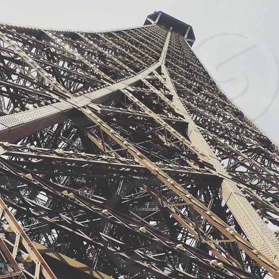 eiffel tower in paris lower view photo
