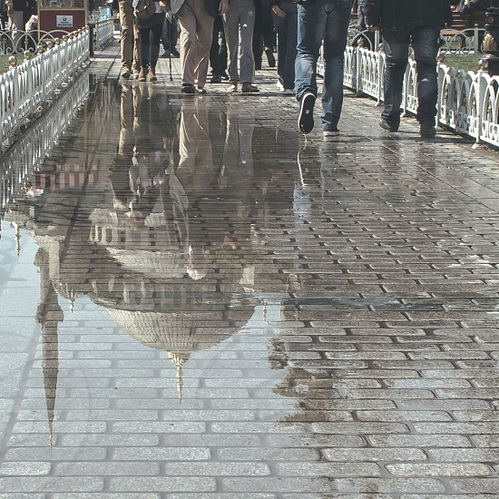 Sultanahmet Mosque Istanbul reflection photo