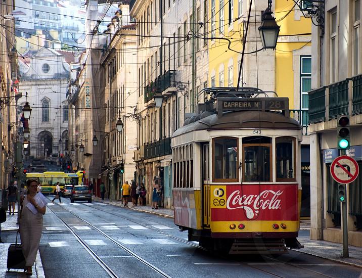 tram of lisbon photo