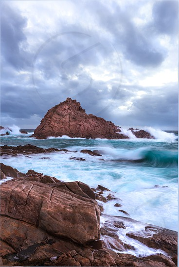 Sugarloaf Rock in stormy weather photo