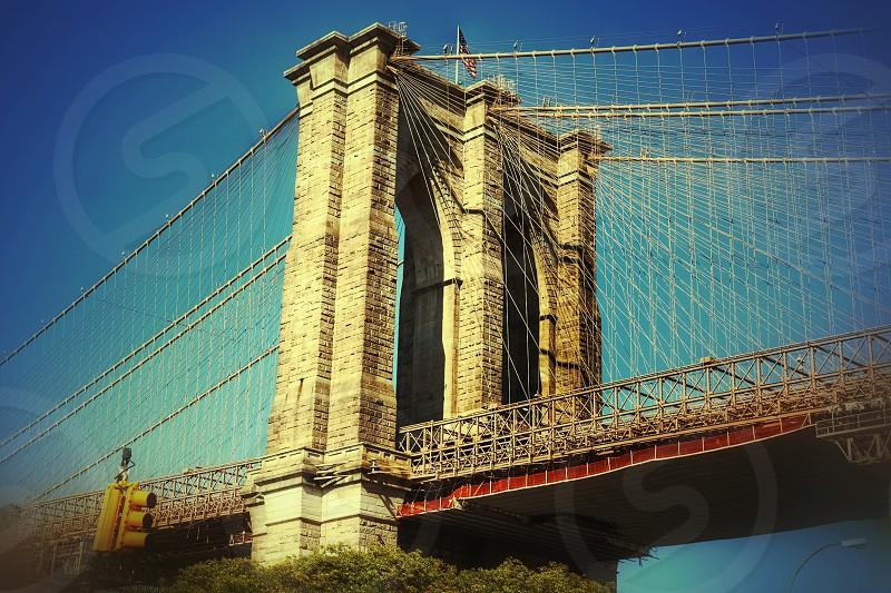 Brooklyn bridgeNew YorkarchitecturewirestructureiconiconiclandmarkUSA  photo