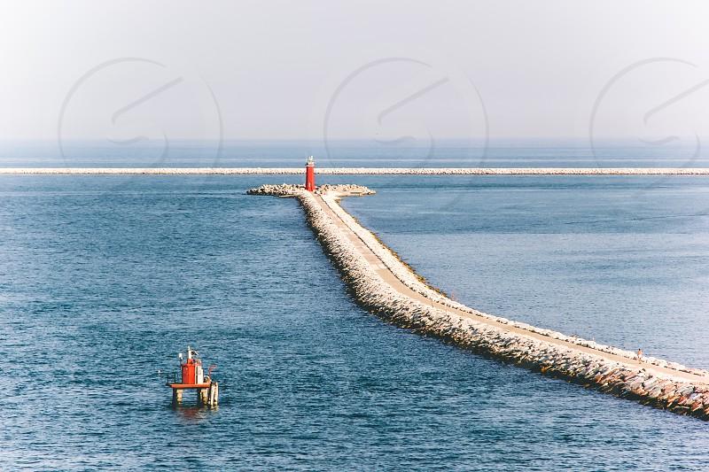 Taken sailing into Bari Italy. photo