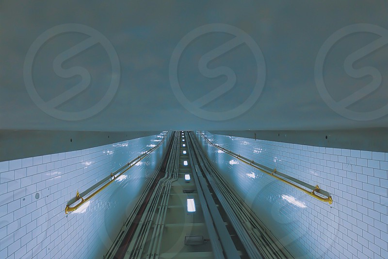 subway escalator photo