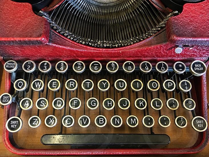 Old fashioned vintage manual typewriter photo