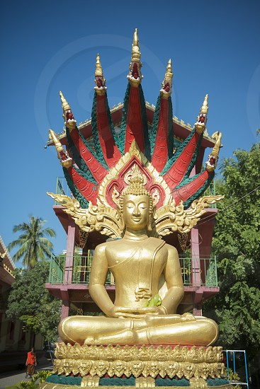 the Wat Chanthaburi in the city of vientiane in Laos in the southeastasia. photo