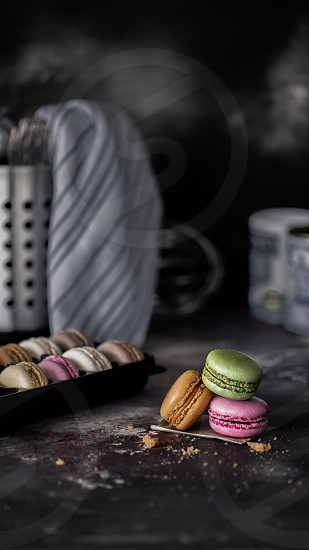 Small macrons pieces  photo