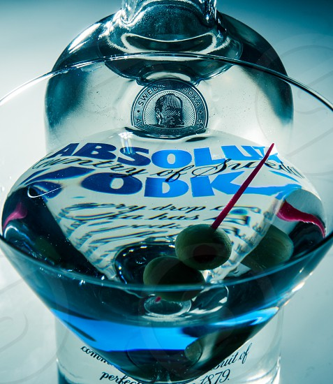Absolut vodka martini.  photo