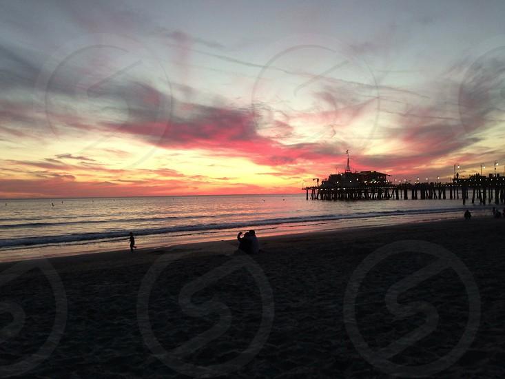 Sunset on Santa Monica Pier  photo