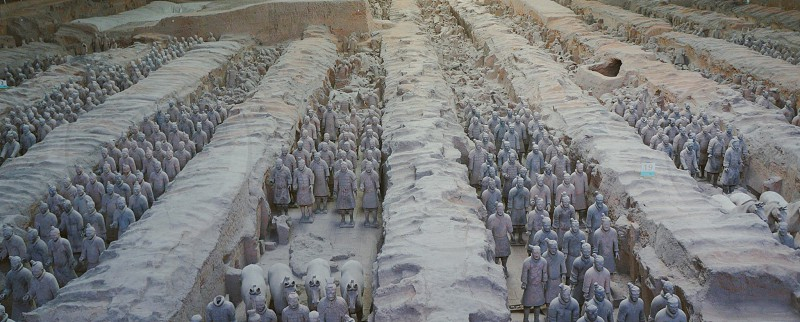 Terracotta soldiers in xian photo