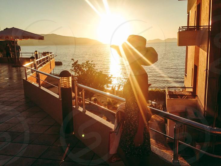 Sunset in Durres Albania photo