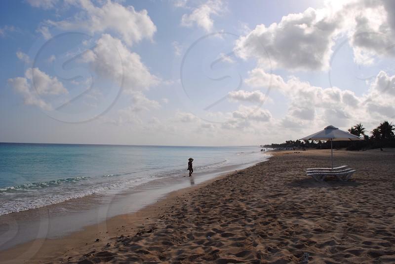 Life celebration on a peaceful beach photo