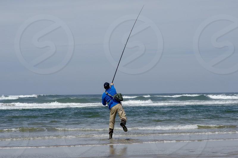 Fishing surf perch photo