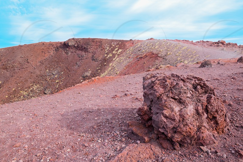 """Rocks Mount Etna the highest volcano in Europe.  The photo was taken at the Silvestri craters in """"Rifugio Sapienza"""". photo"""