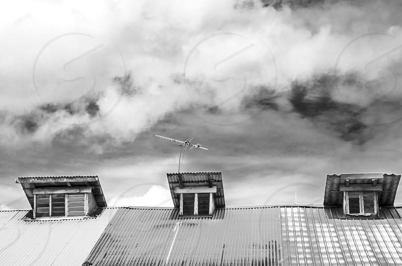 Retro rooftop pattern photo
