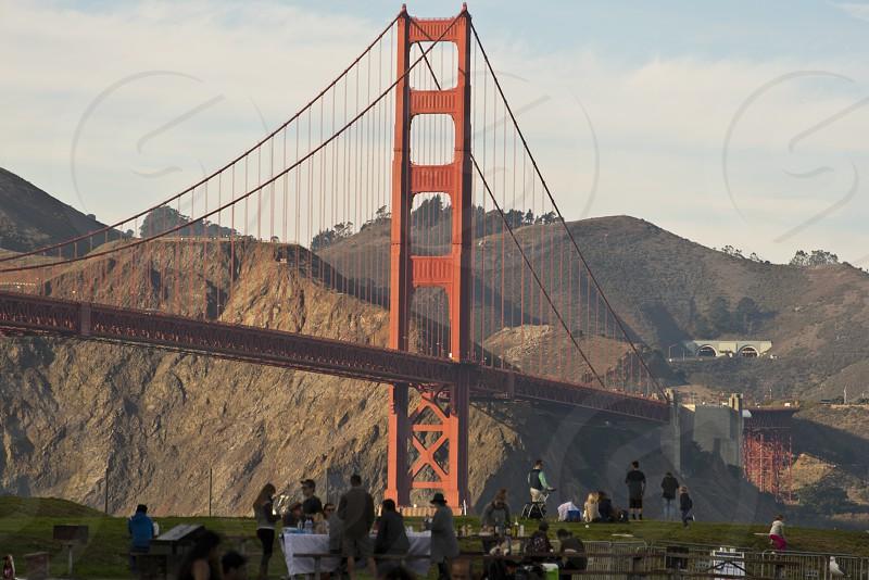 Picnic under the Golden Gate Bridge photo