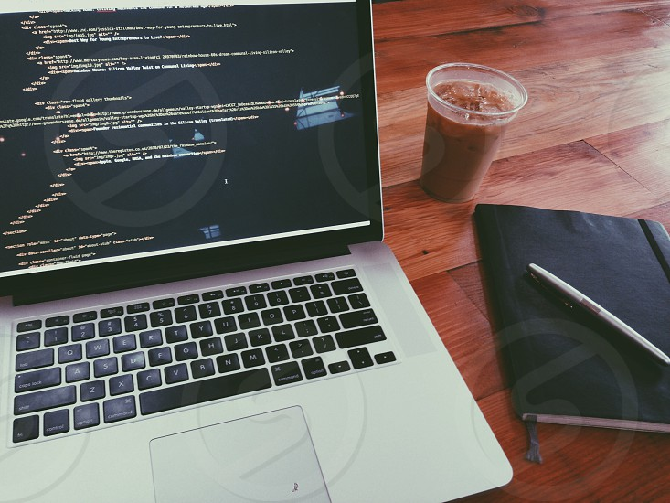 Work Day Desk Coffee Code photo