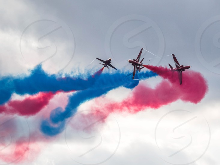 Red Arrows display team 50th anniversary at Biggin Hill airport photo