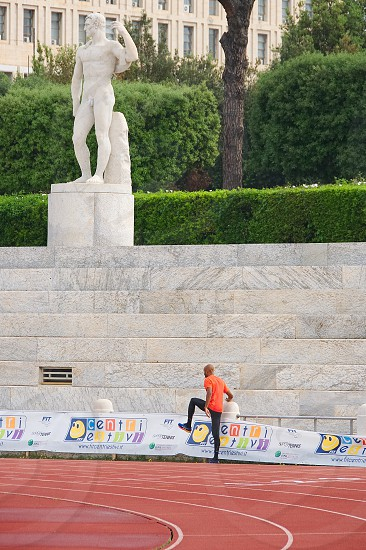 Peter Mennea Arena - Man on running track - Rome - Italy photo