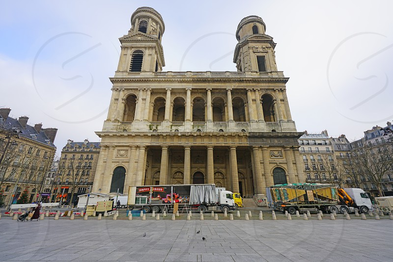 Church of Saint Sulpice in Paris France photo