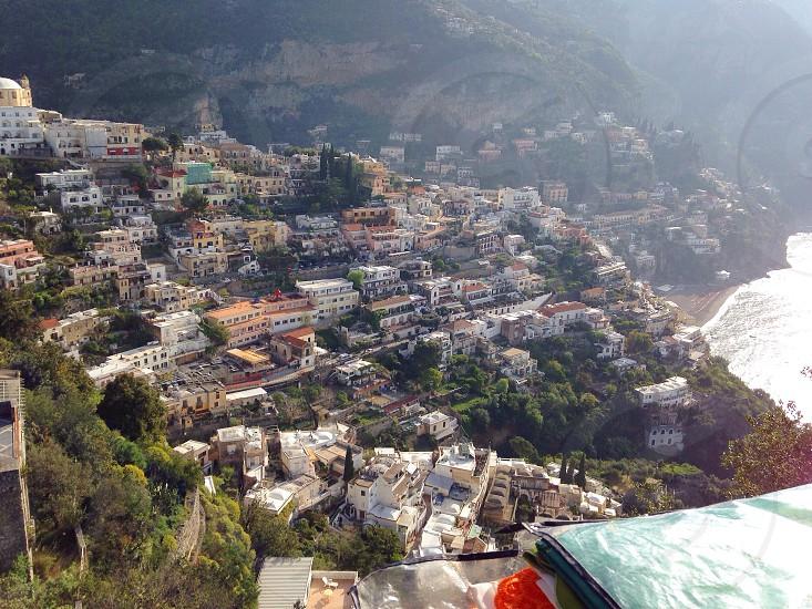 Positano landscape  housesmountains photo