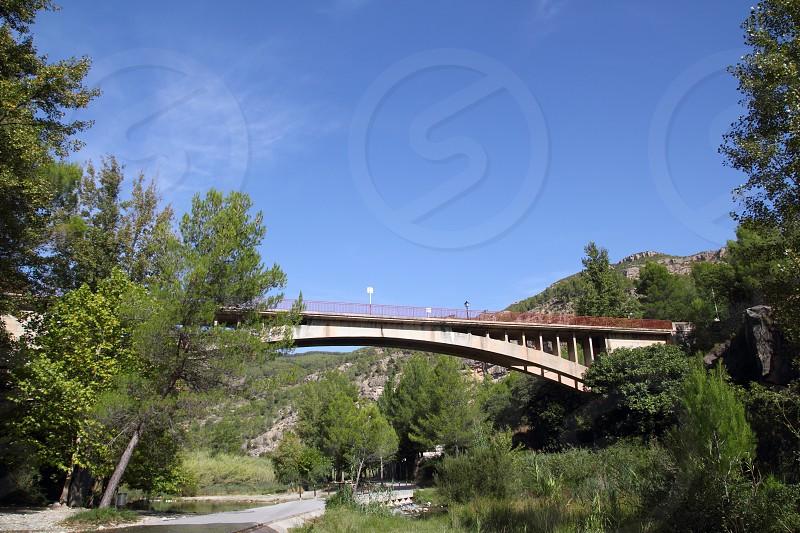 bridge in Montanejos over Mijares River Castellon spain photo