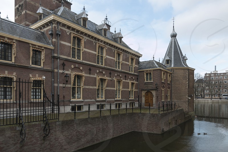 Binnenhof - the Hague.  It houses the meeting place of both houses of the States General of the NetherlandsThe Binnenhof is the oldest House of Parliament in the world still in use.  The oldest House of Parliament in the world still in use. photo