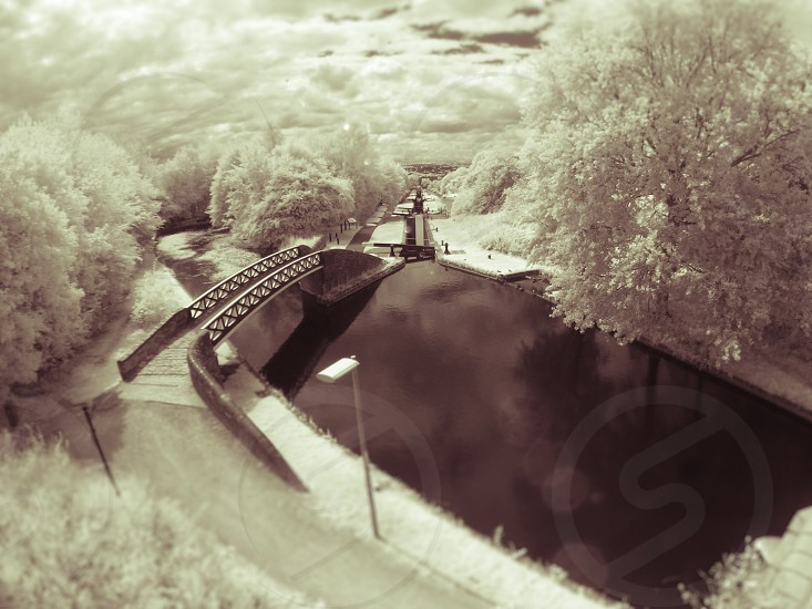 Black Country canal in infra red photo