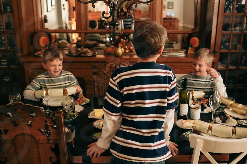 3 boy's smiling photo