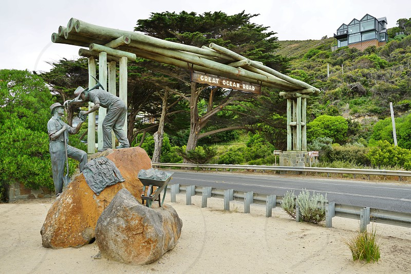 Entrance to the Great Ocean Road - Melbourne Victoria Australia photo