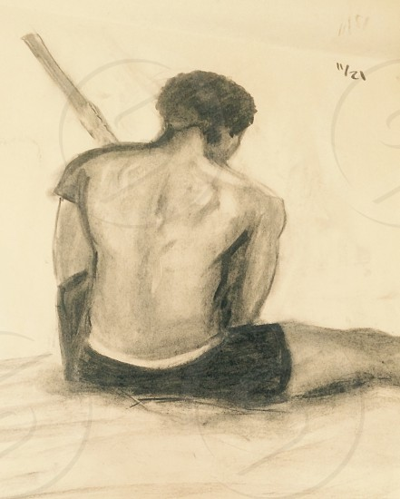 Modeled drawing of myself photo