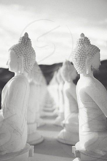 white budha figurine photo