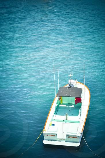 white sailboat on sea photo