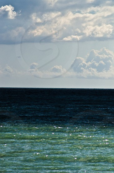 view of blue seawater photo