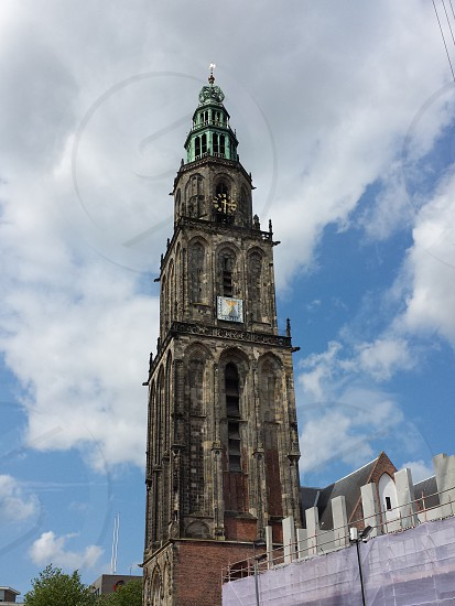 martini toren. city groningen the netherlands photo