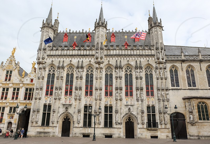 Bruges City Hall in Bruges Belgium. photo