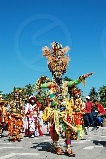 Costume creative parade at Kuta Carnival Bali photo
