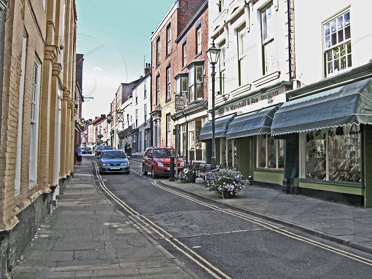 UK. ENGLAND. Bridlington North Yorkshire. High Street in the old town.             photo