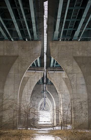 grey concrete post  photo