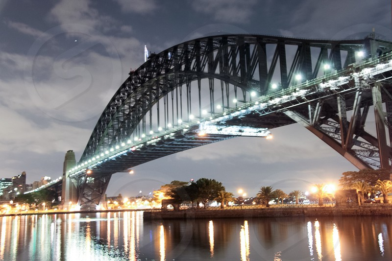 Sydney Harbour Bridge night shot. photo
