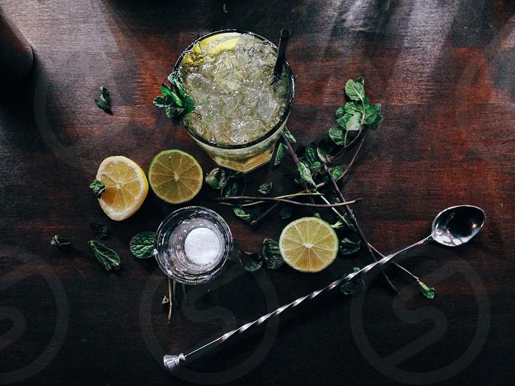 Mojito in the bar photo