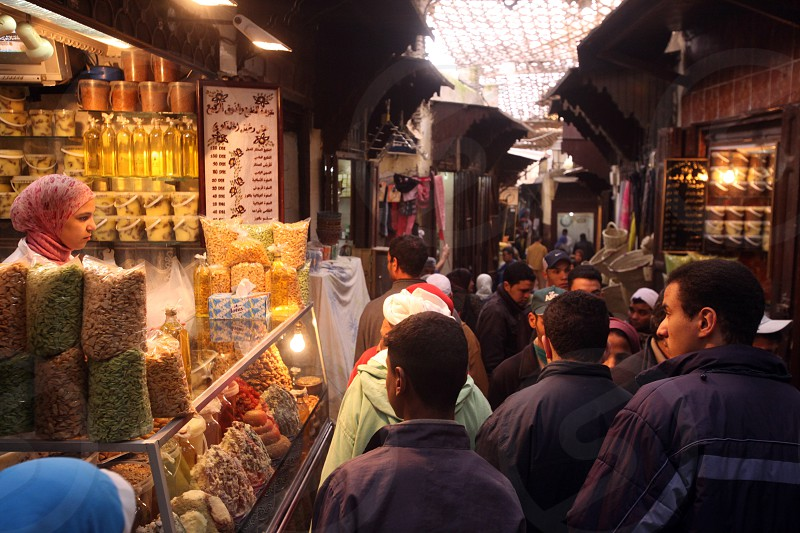 Afrika Nordafrika Marokko Fes Medina Altstadt Moschee Minarett Souq Gasse Alltag  (Urs Flueeler)  photo