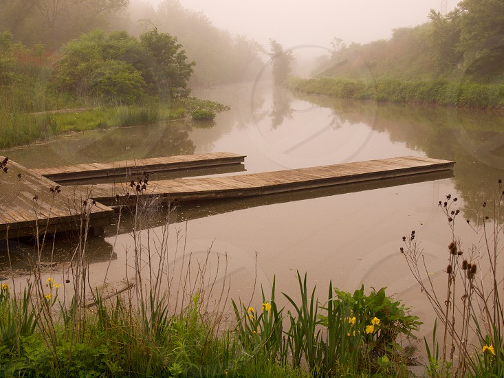 Dock. Canal. Morning. photo