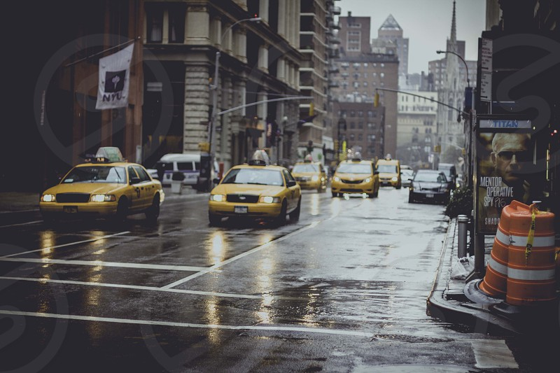 taxi cabs on the road photo