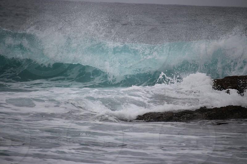 Wave oceanrocks photo